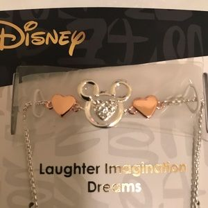 Disney Mickey Rose Gold Heart Fab Bracelet! Fab!